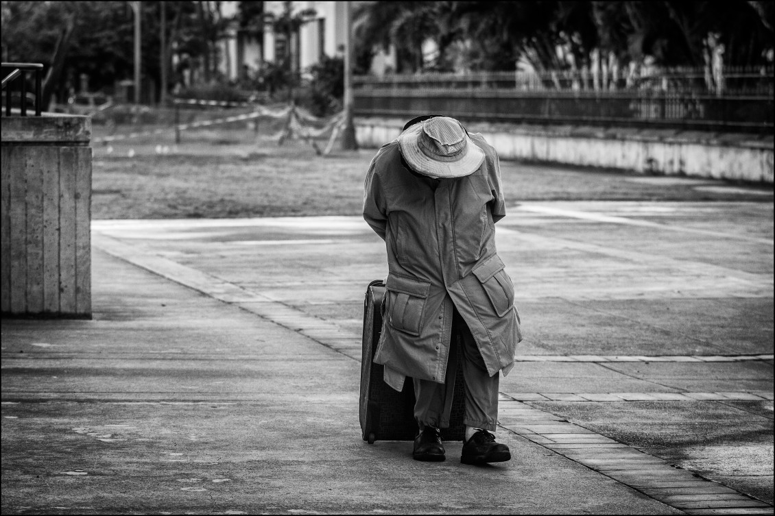Homeless man (black and white)
