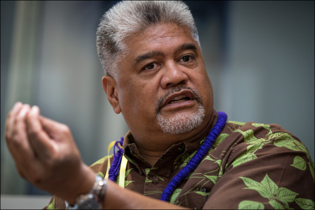Office of Hawaiian Affairs CEO Kamana'opono Crabbe in 2014.