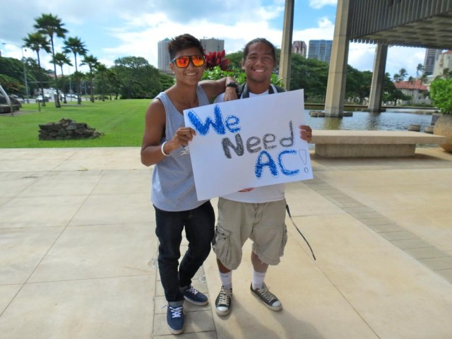 "Campbell High students - ""We Need AC"""