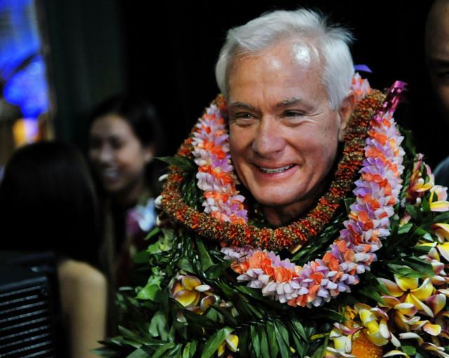 Honolulu Mayor Kirk Caldwell after his 2012 election.