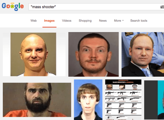 """Mass shooter"" image search on Google"