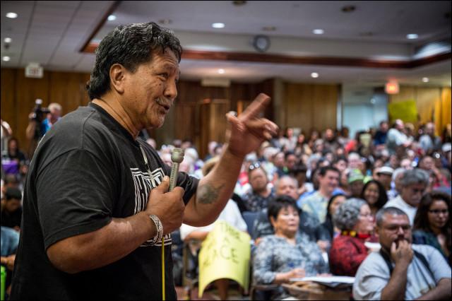 "Dennis ""Bumpy"" Kanahele Hawaii State Capitol public meeting"