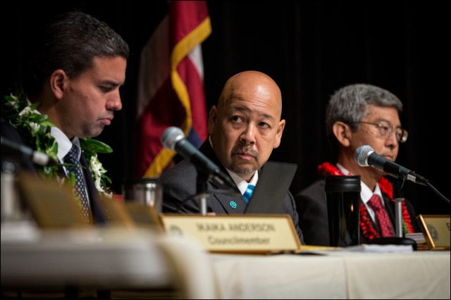 Honolulu City Council Chair Ernest Y. Martin during council meeting at Memorial Auditorium at the Honolulu Mayor's Office of Culture and Arts on June 4, 2014.