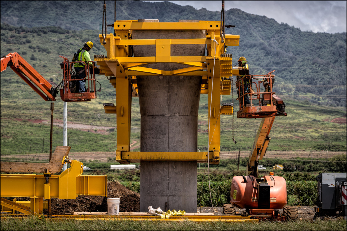HART construction column Kapolei  June 2014