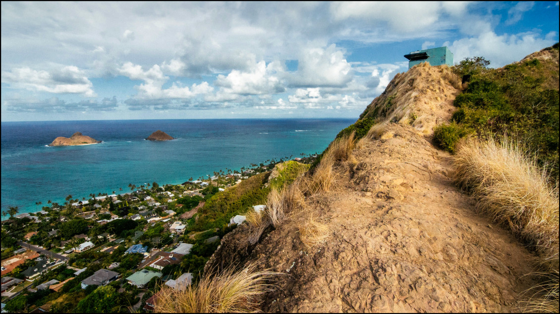 The Pillbox trail in Lanakai hiking windard, oahu