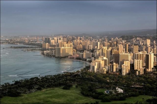 View of Waikiki from Diamond Head.