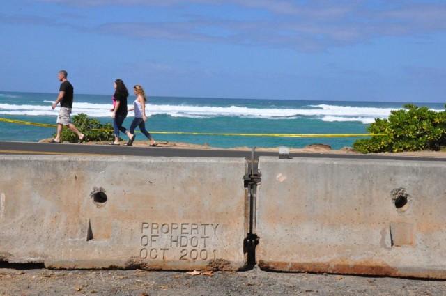 Barriers at Laniakea Beach