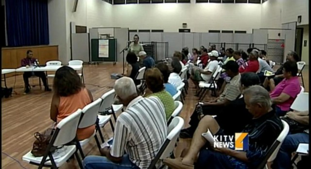 Concerns are aired at a Waianae Neighborhood Board meeting.