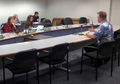State long-term care ombudsman John McDermott testifies before a Senate committee in 2013.