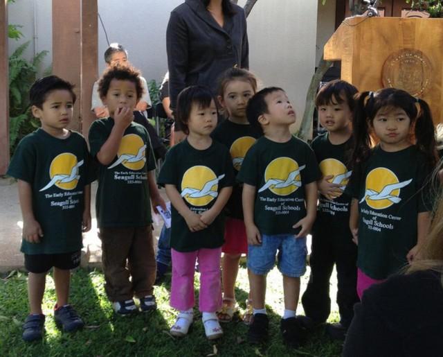 Preschoolers at Seagull Schools.