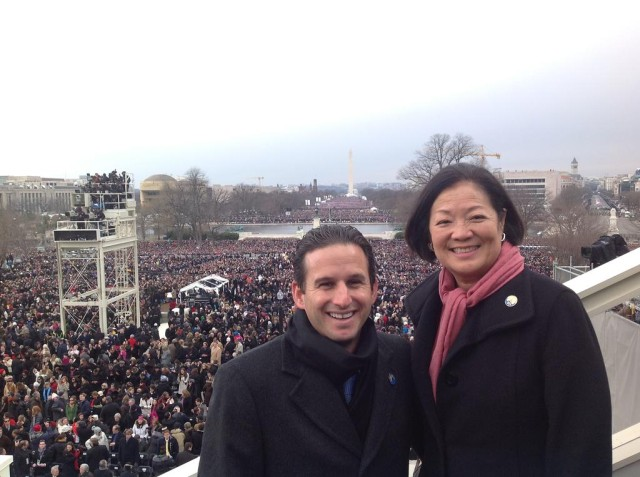 Mazie Hirono and Brian Schatz inauguration