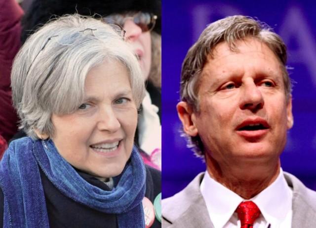 Jill Stein and Gary Johnson.