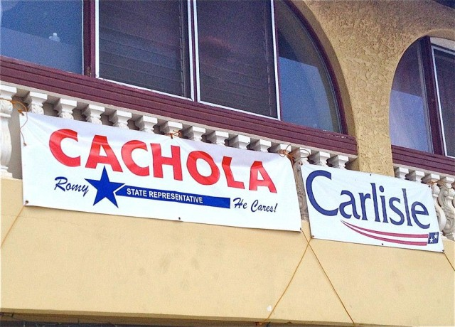 Romy Cachola campaign sign