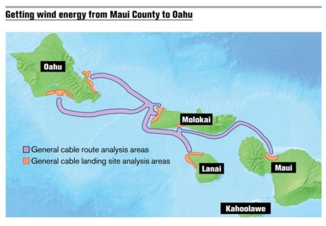 For a time, state and utility officials envisioned the islands being connected by an interisland cable that would allow them to share power from renewable projects on each island.