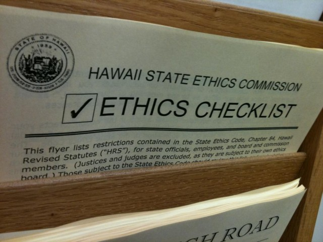 State Ethics Commission, ethics checklist