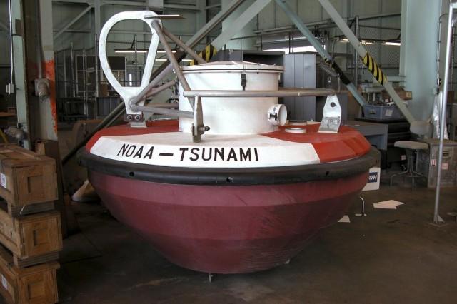 A tsunami warning DART buoy.