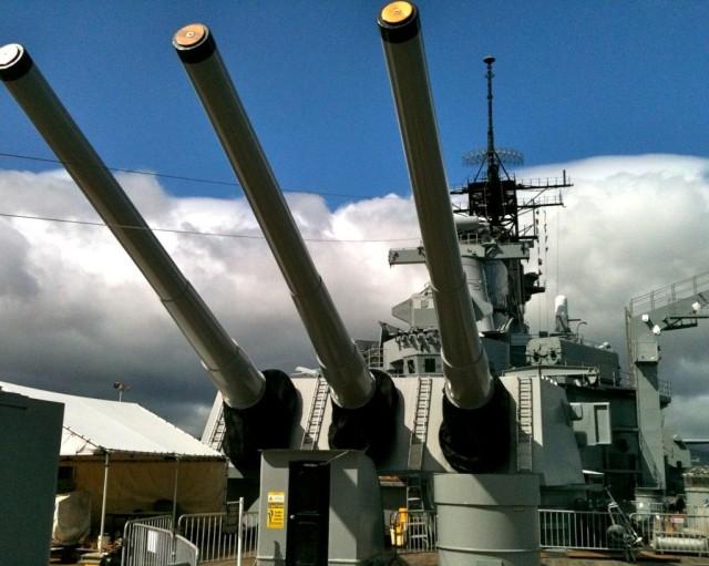 The USS Missouri at Pearl Harbor.