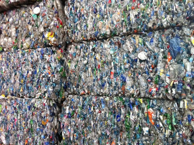 Plastic bottles at RRR