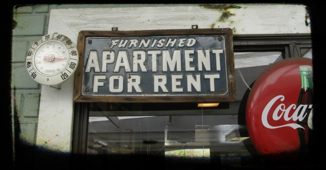 Housing Rent Own Apartment Furnished Sign
