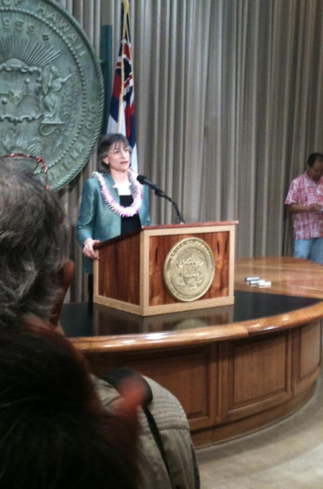 Gov. Linda Lingle/Press Conference