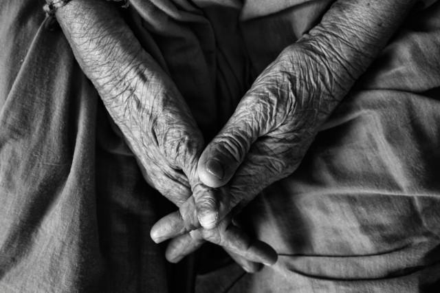 Elderly hands