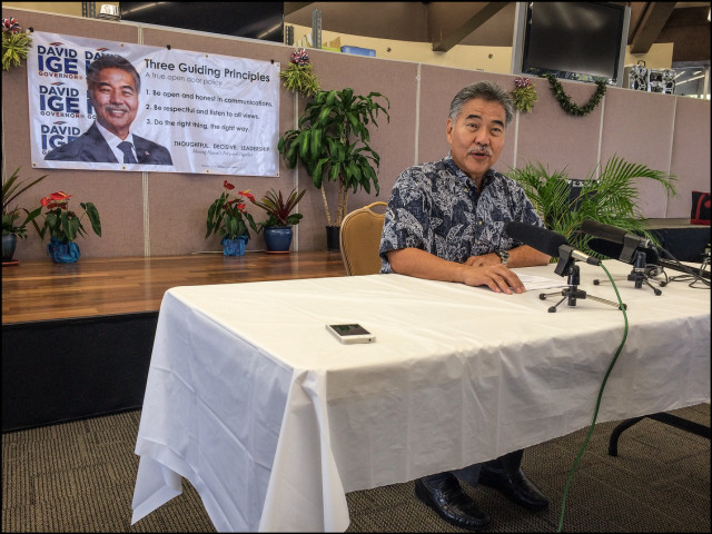 Sen. David Ige unveils his plan for the state should he be elected. Both Ige and his opponent Gov. Neil Abercrombie held news conferences within hours of each other to talk about their respective plans.