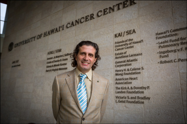 UH Cancer Center Director Dr. Michele Carbone.  1/14/14