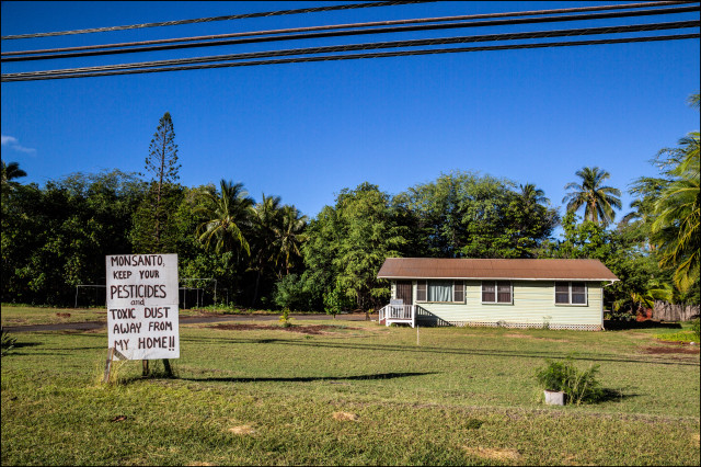 EMBARGOED FOR MOLOKAI 7.14.14 Sign near house in Kaunakakai, Molokai on July 4, 2014.