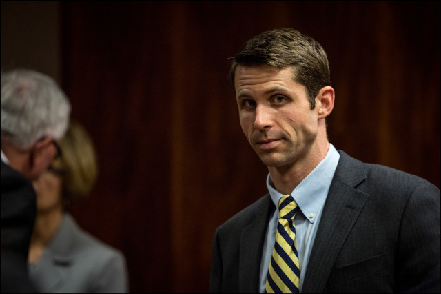 Christopher Deedy at the first day of his re-trial in Honolulu on July 10, 2014