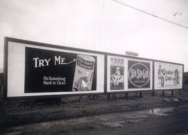 Hawaii billboards1920s vintage Hawaii Quaker Oats historic