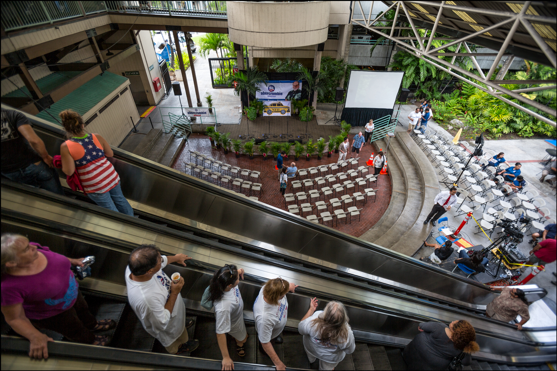 On Aug. 9, the primary night staging was ready downstairs at Ward Warehouse, which was the site of Gov. Neil Abercrombie's re-election campaign headquarters.