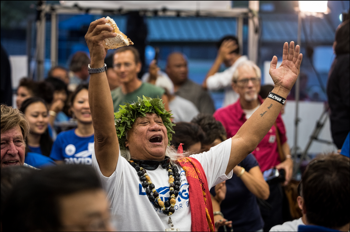 While polls showed state Sen. David Ige ahead for months, few expected the first readout of gubernatorial primary election results to show the challenger nearly doubling the incumbent's vote total. (Cory Lum/Civil Beat)