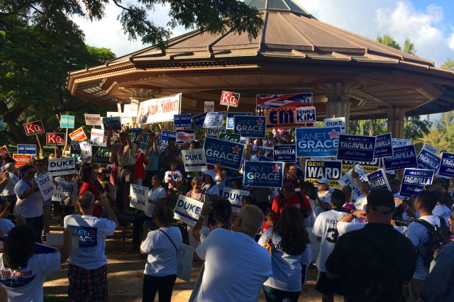 Hawaii Republicans rally 8.23.2014