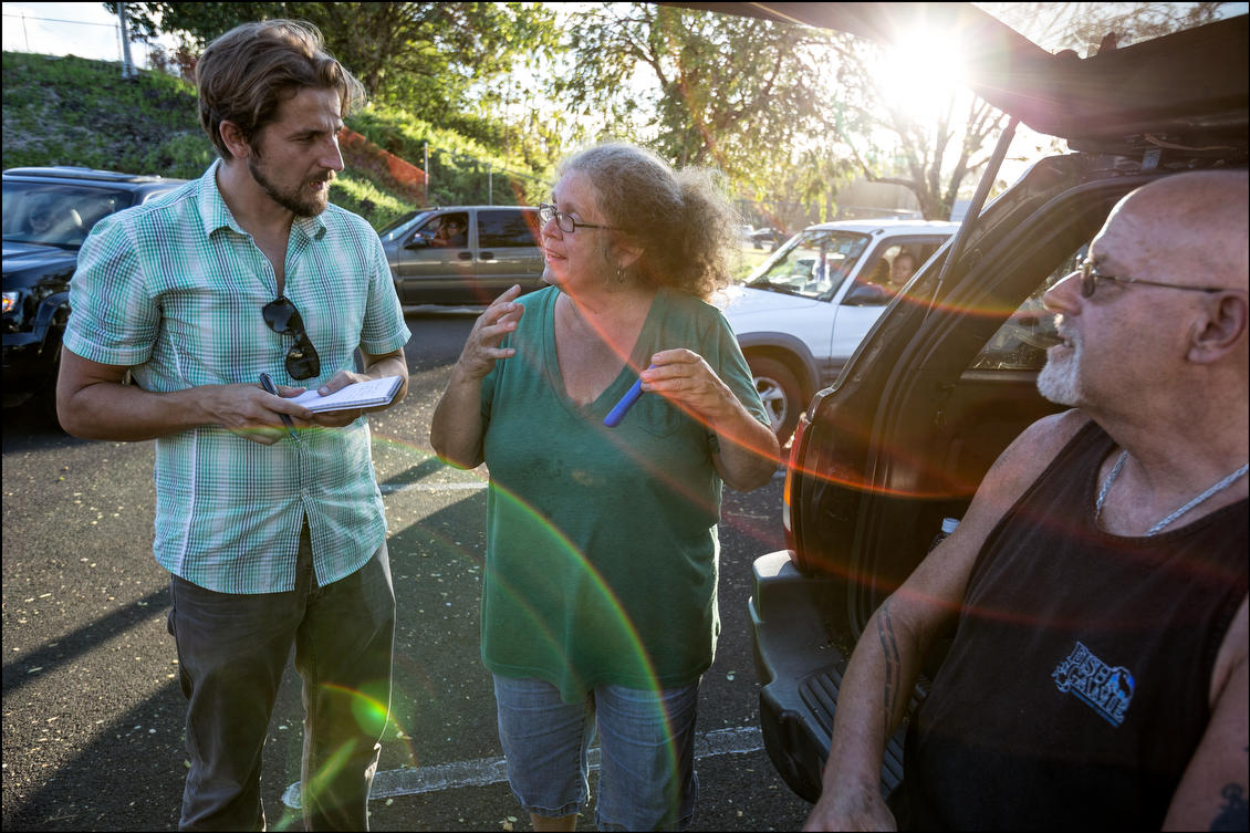 Some of the local residents — who were offered food and water, as well as a place to rest and charge their cell phones at the Pahoa Community Center — talked about their experiences dealing with Hurricane Iselle and its aftermath with Civil Beat reporter Nick Grube.