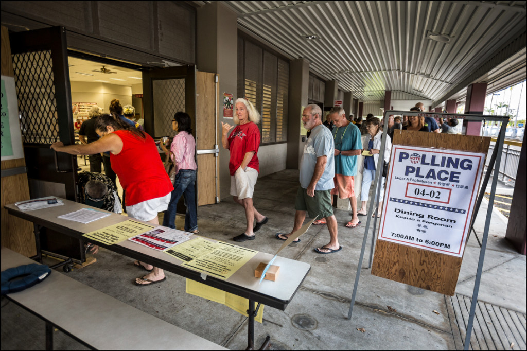 The doors open for voters 7am at Keonepoko Elememtary in Puna on August 15, 2014