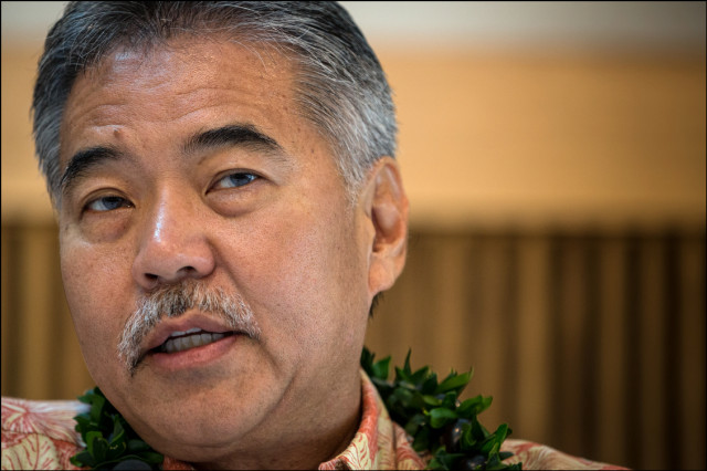 Sen. David Ige speaks during of gubernatorial forum at UH West Oahu presented by the West Oahu Economic Development Association on August 26, 2014