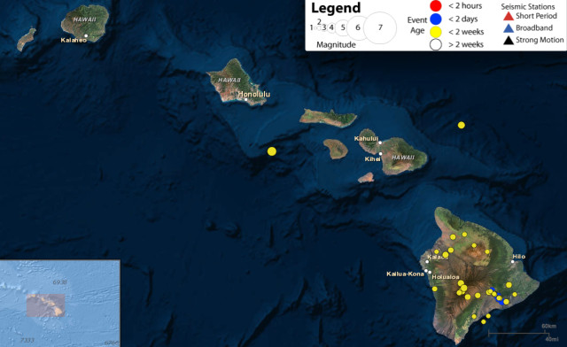 USGS earthquake plot