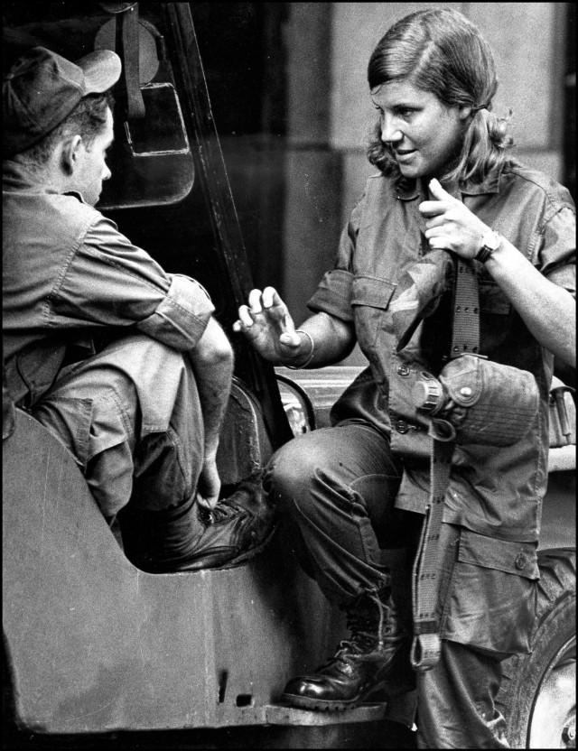 Denby Fawcett reporting in Vietnam during war