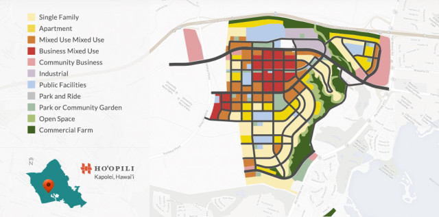 Map of Hoopili Development Kapolei West Oahu