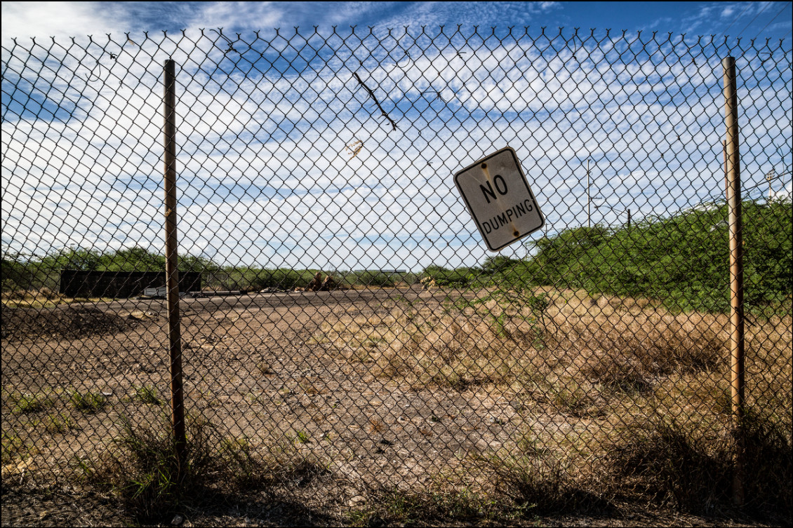 Sand Island site where City and County of Honolulu is proposing Housing First Transition Center. September 9, 2104.