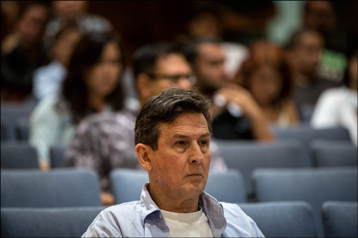 After four years in federal prison, Hilo's so-called Pot Minister, Roger Christie, was free from a halfway-house long enough to attend Wednesday's hearing.