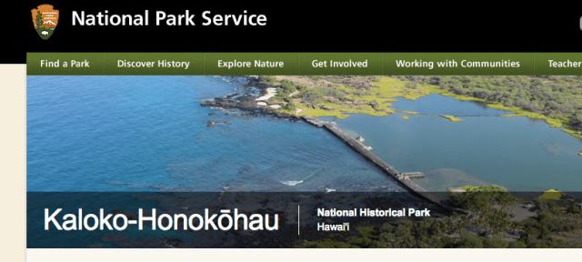National Park Service Big island Kaloko Honokohau