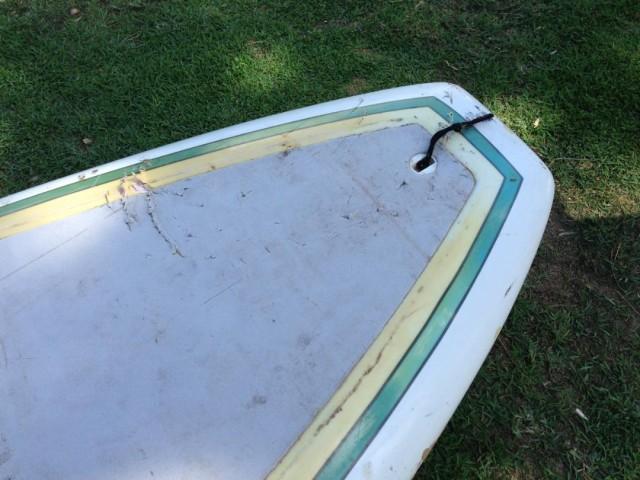 shark teeth marks on a board