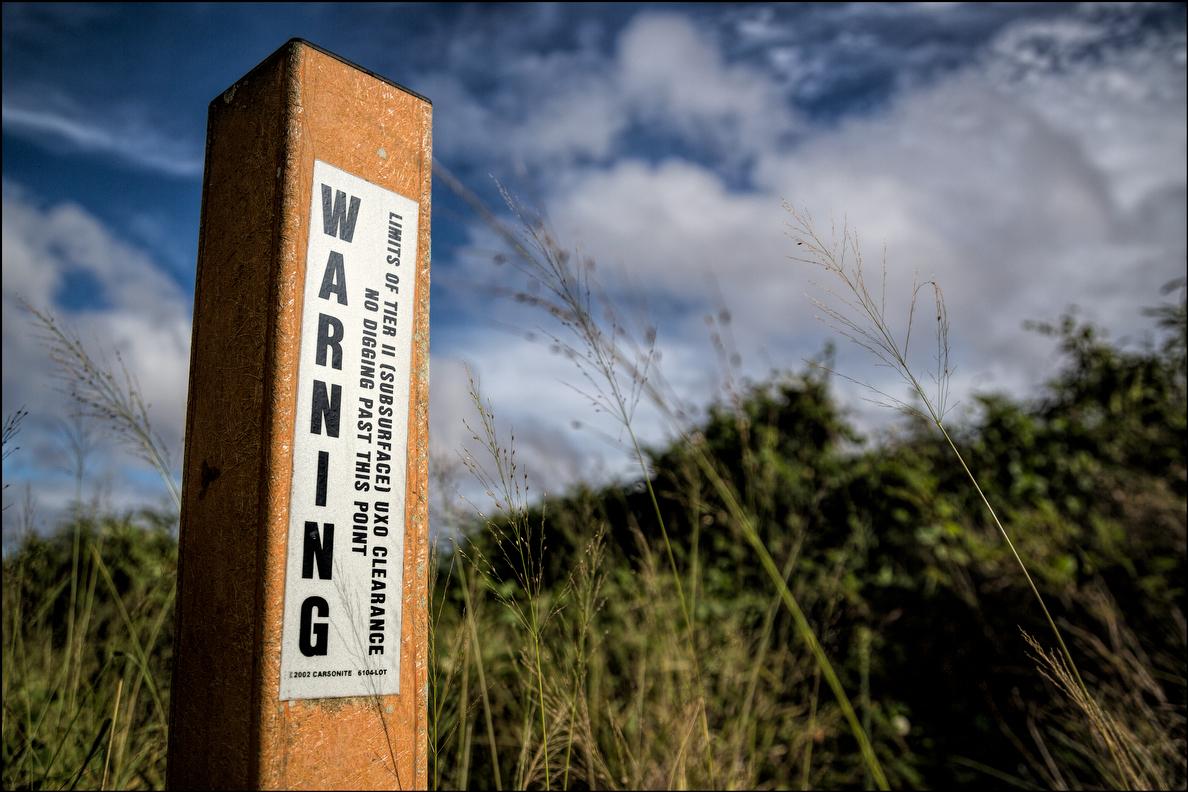 Kahoolawe warning sign. 9.29.14