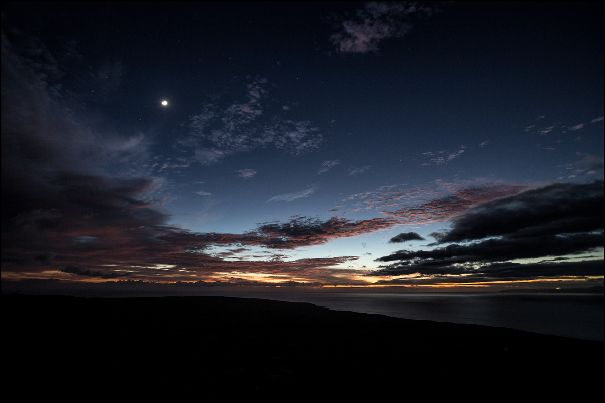Kahoolawe nightfall looking west towards Oahu. 9.28.14