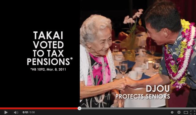 Pension Tax attack ad Takai Djou