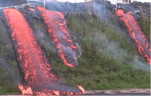 lava flow Pahoa transfer station