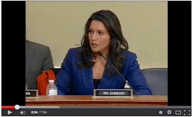 Gabbard at DC volcano hearing