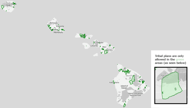 Hawaiian Home Lands map