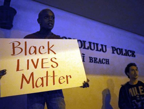 Honolulu Waikiki Ferguson protests police brutality